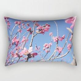 Blue Blossoms 03 Rectangular Pillow