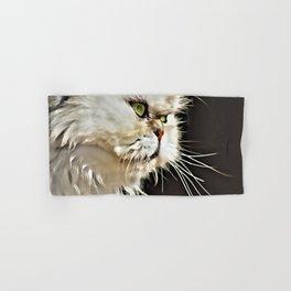 White Persian Cat Hand & Bath Towel