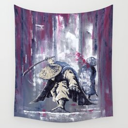 'The Winter Ronin Strikes' Wall Tapestry