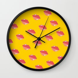 Gloss Lippy Wall Clock