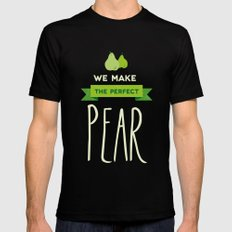 The perfect pear Mens Fitted Tee Black SMALL