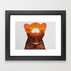 Leopard Cub Framed Art Print
