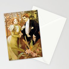 Alphonse Mucha Flirt Vintage Romantic Art Nouveau Stationery Cards