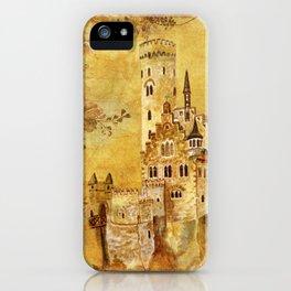 Medieval Golden Castle iPhone Case