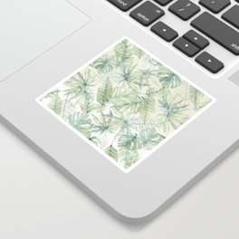 Green Tropical Leaves Sticker