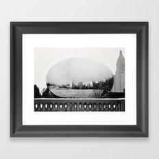 A Snowy Chicago Bean Framed Art Print