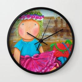 "Mia the ""Ballerina"", Girl nursery Fine Art Print, Whimsical Ballerina, The Mia Collection  Wall Clock"