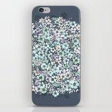 Flower Circle, mist blue iPhone & iPod Skin