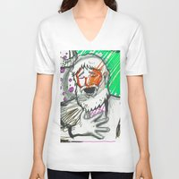 sketch V-neck T-shirts featuring Sketch by Alec Goss