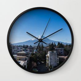 Mt. Fuji Lake Kawaguchiko Wall Clock