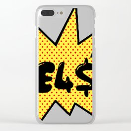 E4$ X PUSSY CLAPS BACK COLLAB GRAPHIC Clear iPhone Case