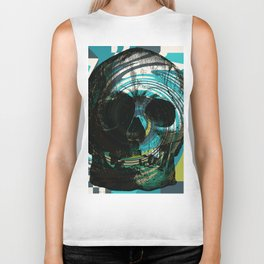 Pop Art Skull Retro 80's Biker Tank