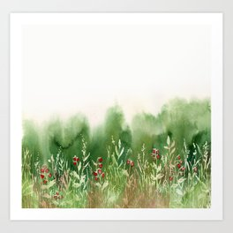 Strawberry Fields for an Indefinite Amount of Time Art Print