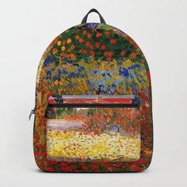 Garden in Bloom, Arles, Vincent van Gogh Backpack