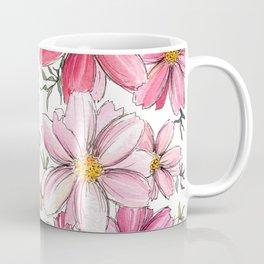 Pink Spring Flower Pattern Coffee Mug