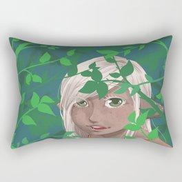 A Leafy Hello Rectangular Pillow