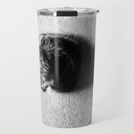 Aesthetic Black And White Cat 2 Travel Mug