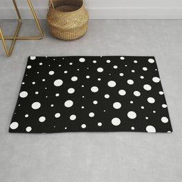 Elegant polka dots - Black and White Rug