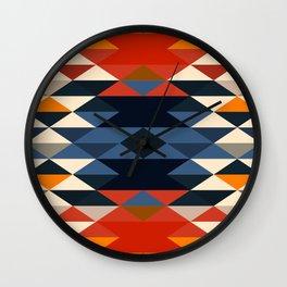Southwestern Diamonds Wall Clock