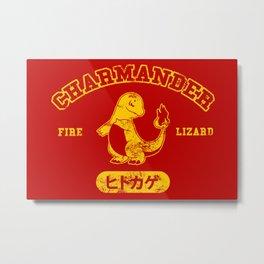 Fire Lizard Metal Print