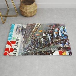 1969 Le Mans poster, Race poster, Car poster, vintage poster Rug