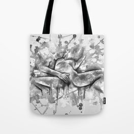 Colorful Climax b&w Tote Bag