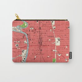 Vintage Map of Wichita Kansas (1961) Carry-All Pouch