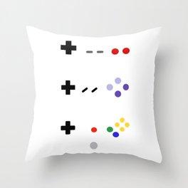 90's gaming Throw Pillow