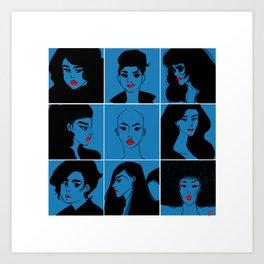 PostIt Girls 01 Art Print