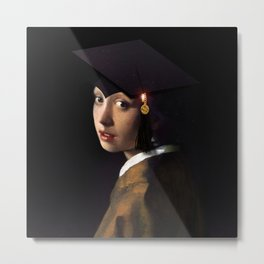 Girl with the Grad Cap Metal Print