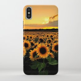 Sunflower field iPhone Case