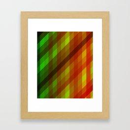 Cool to Hot Weaving Lanes Framed Art Print