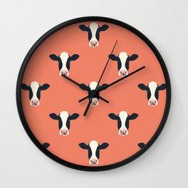 Dairy Cows (Amber) Wall Clock