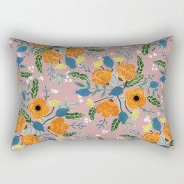 Floral Design Rectangular Pillow