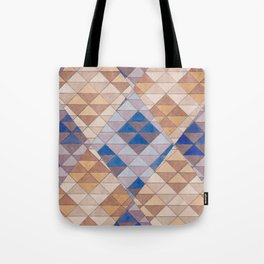 Triangle Pattern No. 13 Shifting Purple and Ochre Tote Bag
