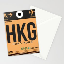 HKG Hog Kong Luggage Tag 2 Stationery Cards
