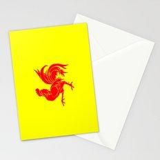 Flag of wallonia - Drapeau wallon,wallonie,Belgique,Belge,Bruxelles,France,Mons,Charleroi,coq,jaune Stationery Cards