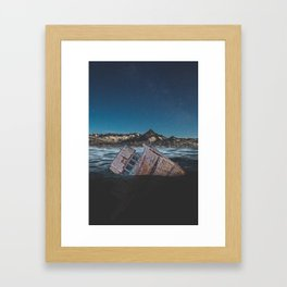 Sunken Ship Framed Art Print