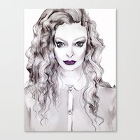 lorde Canvas Prints featuring LORDE by Grace Carey-Gorey