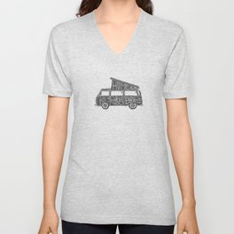Home is where you park it Unisex V-Neck