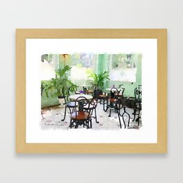 Watercolor Cafe Framed Art Print