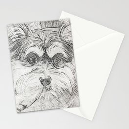 """Pencil Sketch """"Sophie"""" our Puppy Stationery Cards"""