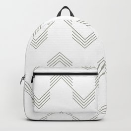 Simply Deconstructed Chevron Retro Gray on White Backpack