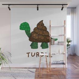 Turdle - Poop - Turtle - 57 Montgomery Art Wall Mural
