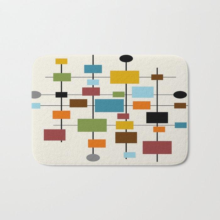 Mid-Century Modern Art 1.3 Bath Mat