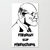 freud Canvas Prints featuring Freud by Freudian Slip Producions