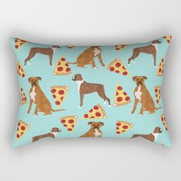 Boxer dog pattern pizza dog lover pet portraits boxers dog breed by pet friendly Rectangular Pillow