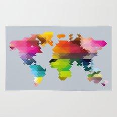 Geo World Map Rug