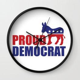 Proud Democrat Donkey Wall Clock