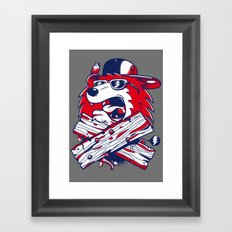 Old School Bear Framed Art Print